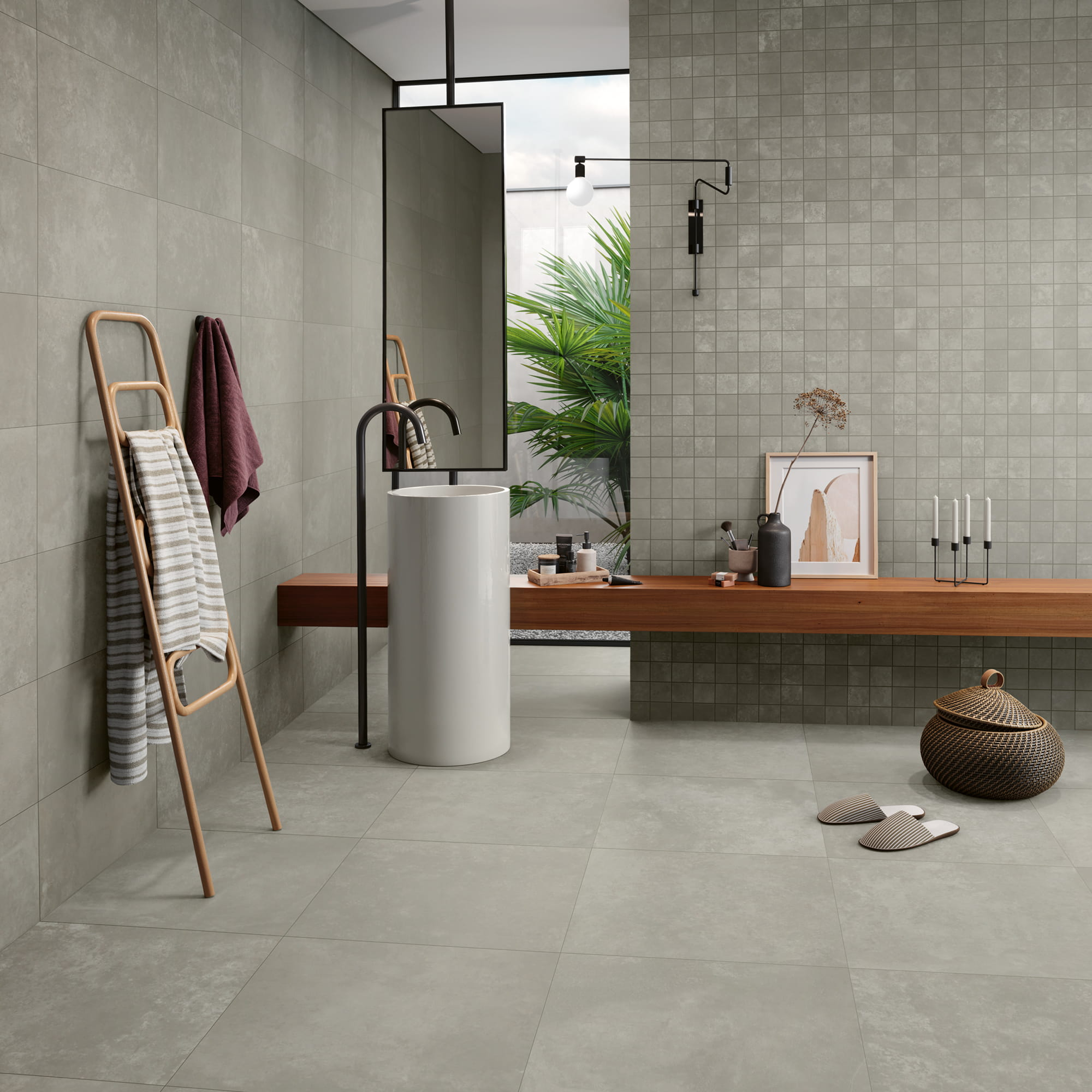 Balance Grey - 30 x 60 RET. Touch | Mosaic Balance Grey - 30 x 30 Touch | Balance Grey - 60 x 60 RET. Touch