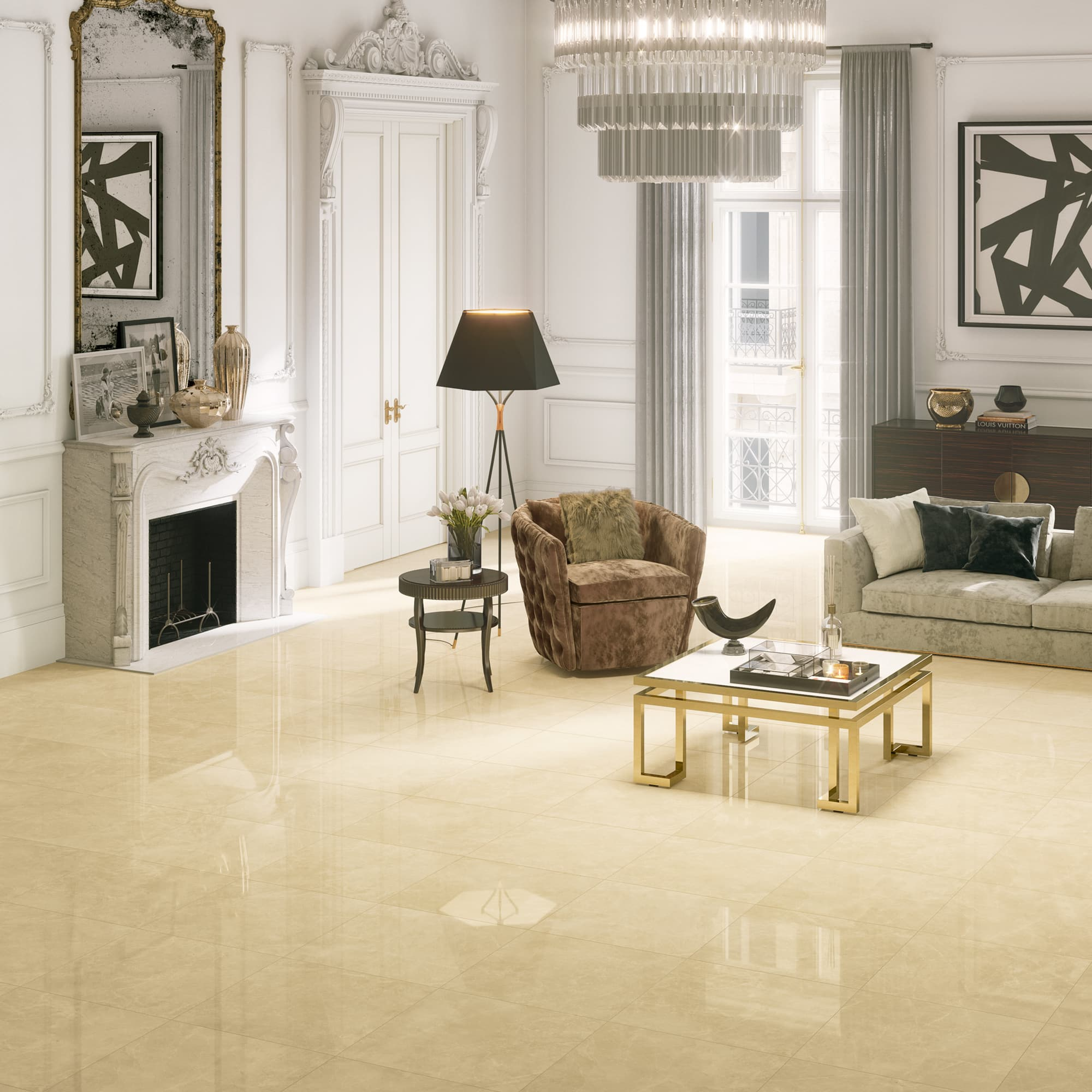 Marble Beige - 60 x 60 RET. | Polido