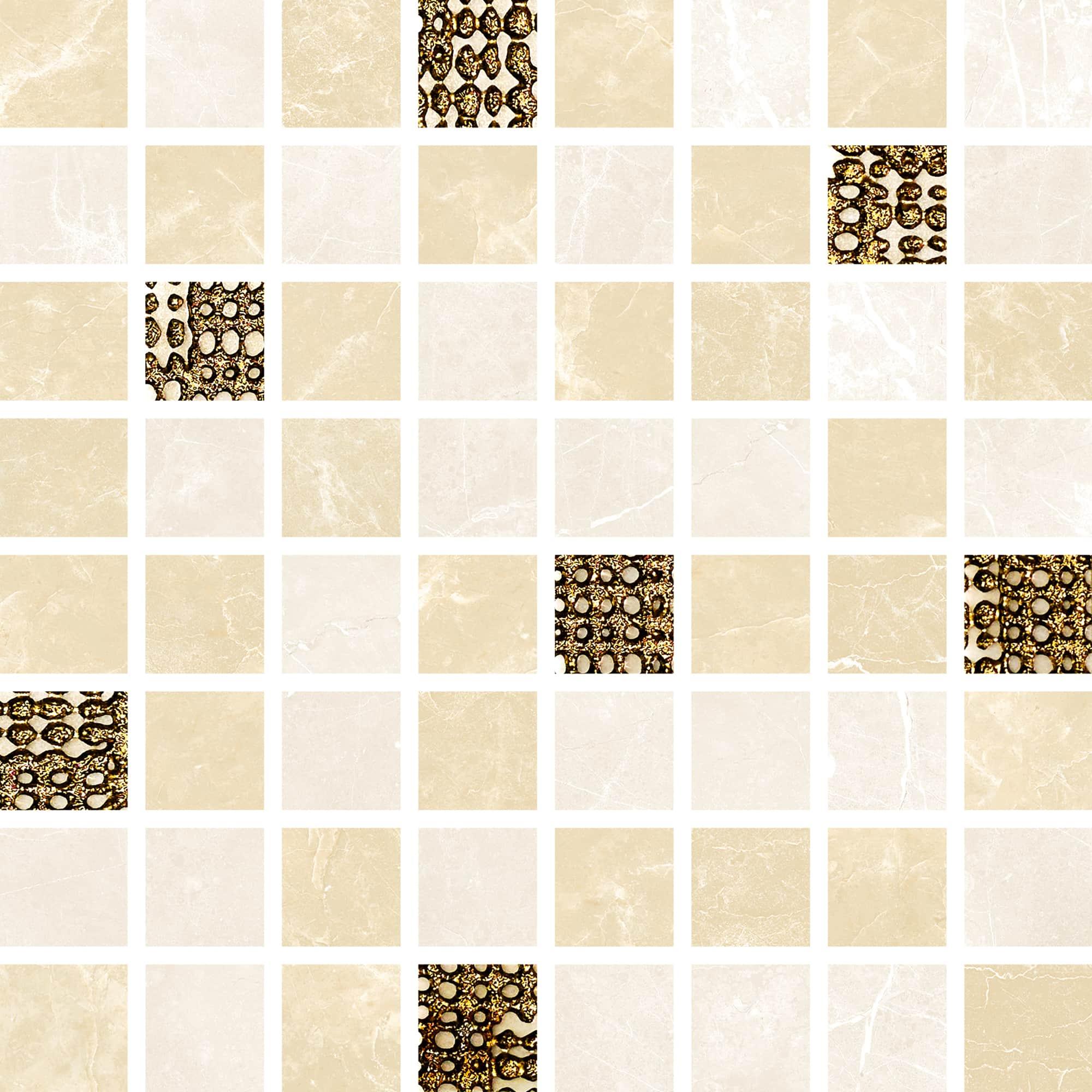 Mosaic Cream Beige Shine