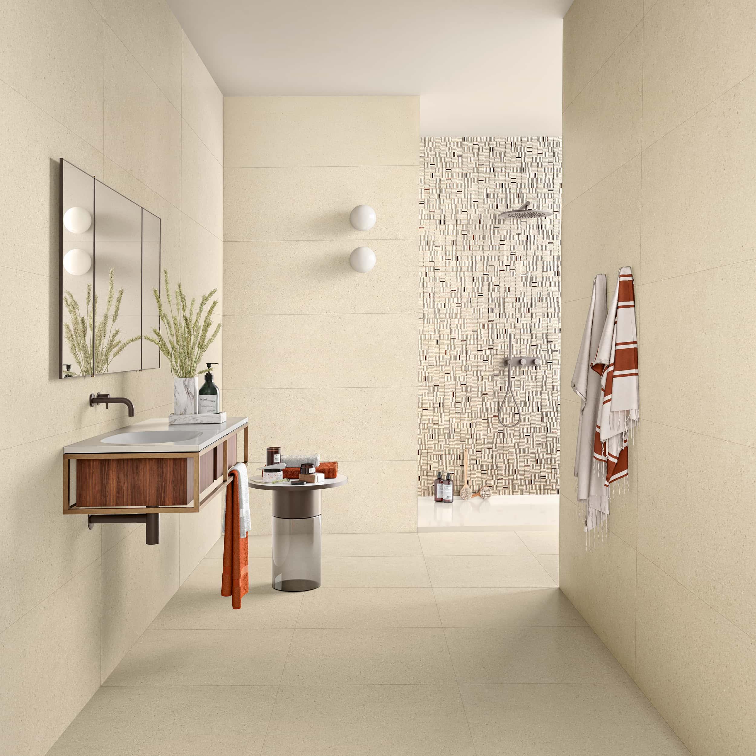 Stark Beige - 45 x 120 RET. | Mosaico Stark Beige - 35 x 35 | Stark Beige - 60 x 60 RET.