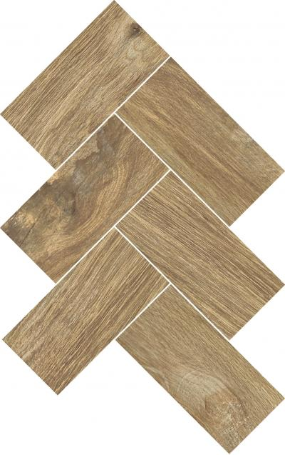 Mosaic Wooden Dark Beige