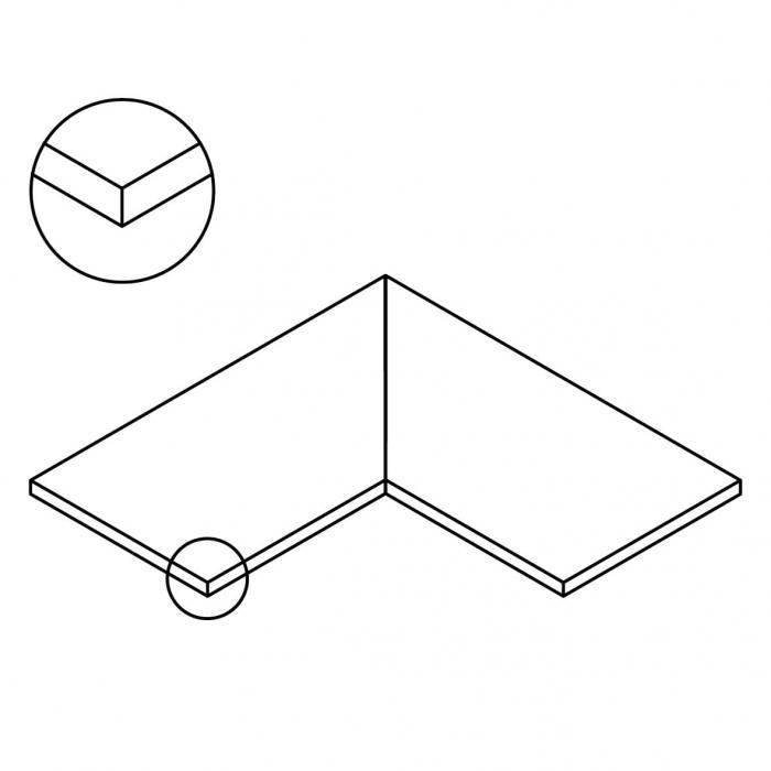 Straight edge corners