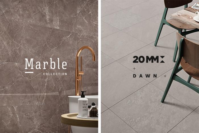 Dawn e Marble son las más recientes colecciones de Love Tiles