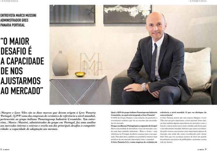 Entrevista Presidente Gres Panaria Portugal - Litoral Magazine