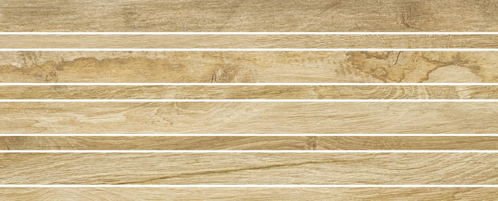 Mosaic Wooden Raw Beige